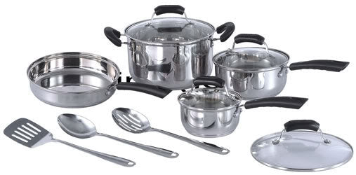 Sunpentown 11pc Stainless Steel Cookware Set HK-1111