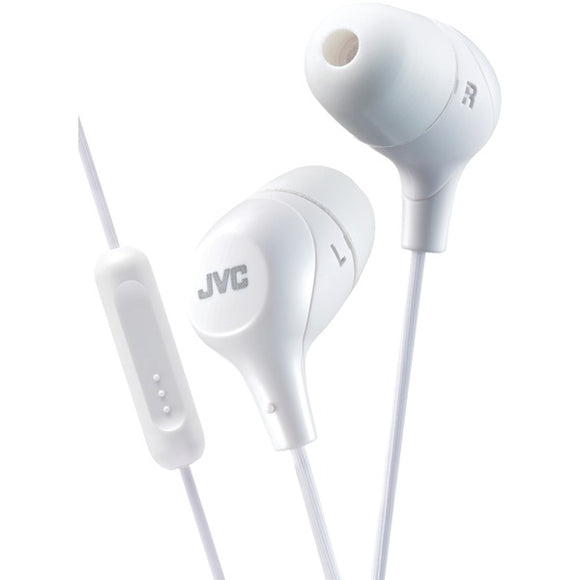 JVC HAFX38MW Marshmallow  Inner-Ear Headphones with Microphone (Yellow)