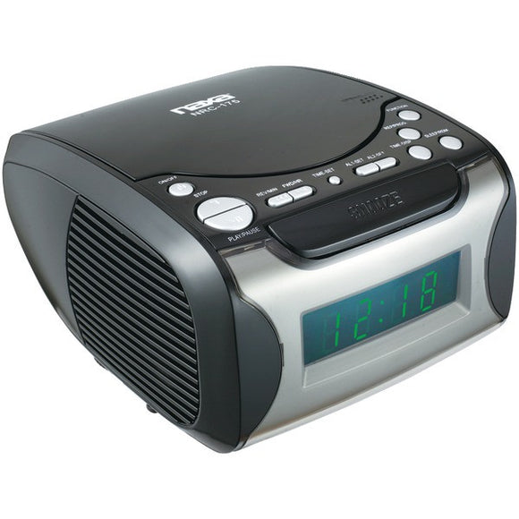 NAXA NRC175 Digital Alarm Clock Radio & CD Player ( ptr-NAXNRC175.3 )