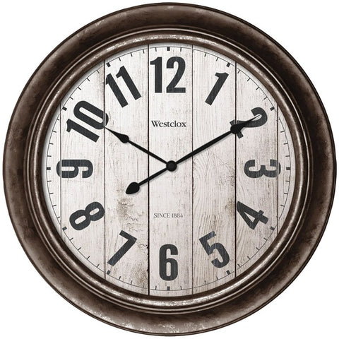 "Westclox  32931AW 15.5"" Wall Clock with Antique Bronze Finish"