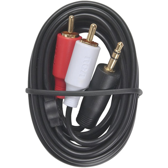 RCA AH205R 3.5mm to 2 RCA Plugs Y-Adapter, 3ft