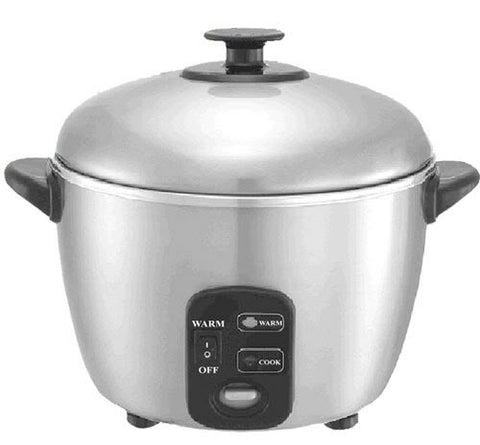 Sunpentown 3-cups Stainless Steel Rice Cooker / Steamer SC-886