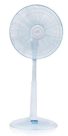 "Sunpentown 14"" Remote Control Standing Fan oscillation or fixed position SF-1468"