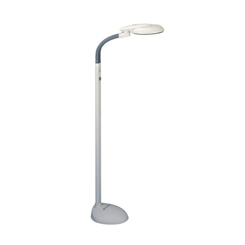 Sunpentown EasyEye Energy Saving Floor goose neck Lamp w/ Ionizer (4-tube bulb)