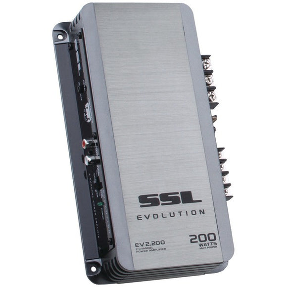 SOUNDSTORM EV2.200 EVOLUTION Series 200-Watt 2-Channel MOSFET Class AB Amp (Silver)