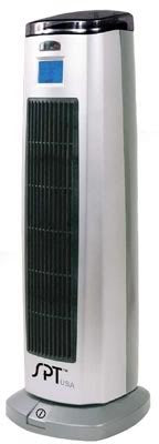 Sunpentown Tower Ceramic Heater w/ Ionizer & Remote SH-1508