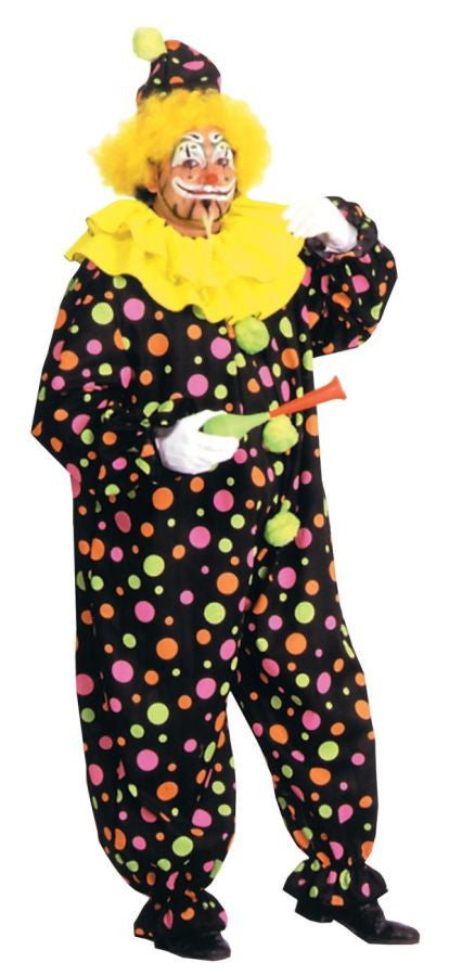 CLOWN COSTUME NEON DOTTED 1 Sz