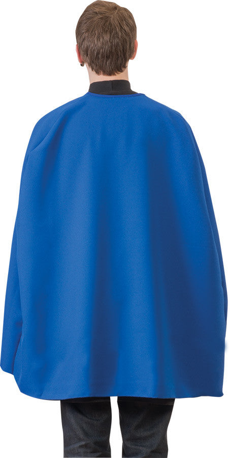 BLUE SUPERHERO CAPE ADULT 36IN