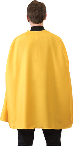 YELLOW SUPERHERO CAPE ADULT 36