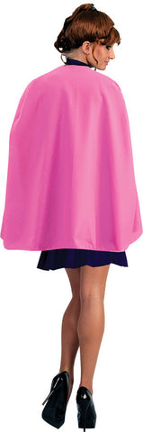 PINK SUPERHERO CAPE ADULT 36IN