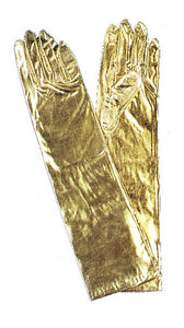 GLOVES ELBOW METALLIC GOLD