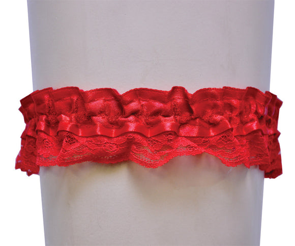 GARTER LACE RED SINGLE