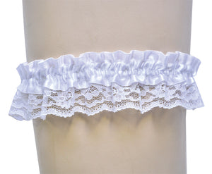 GARTER LACE WHITE SINGLE