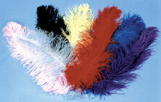OSTRICH PLUMES RED JUMBO