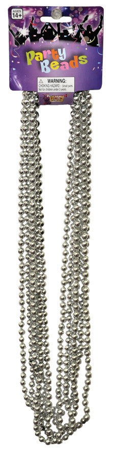BEADS 33in 7 1/2 MM SLV