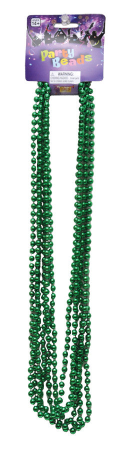 BEADS 33in 7 1/2MM GREEN