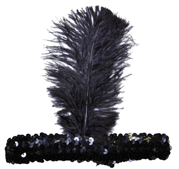 20S Headband Black  Costume Accessories - Bargains Delivered