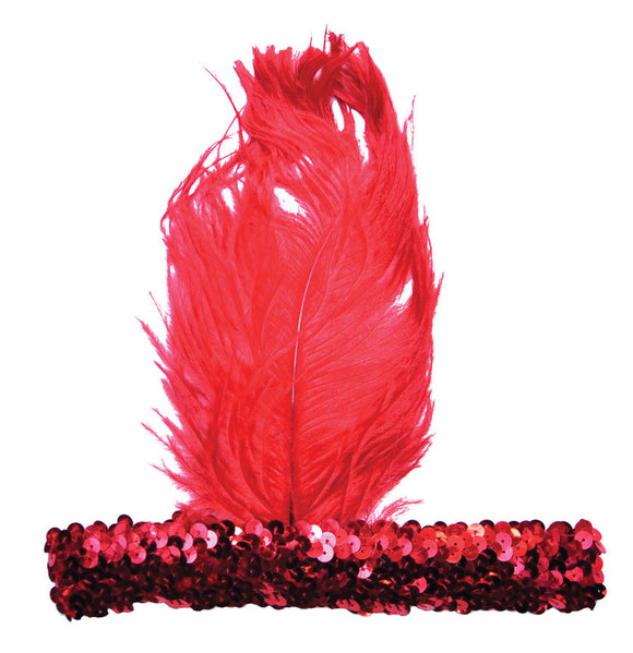 20S Headband Red  Costume Accessories - Bargains Delivered