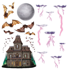 HAUNTED HOUSE NIGHT SKY PROPS
