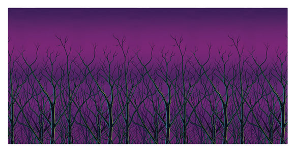SPOOKY FOREST TREETOPS BACKDRO