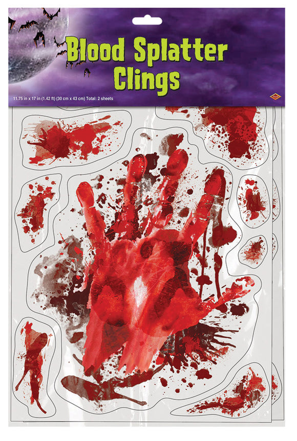 BLOOD SPLATTER CLINGS
