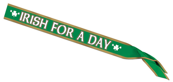 IRISH FOR A DAY SATIN SASH