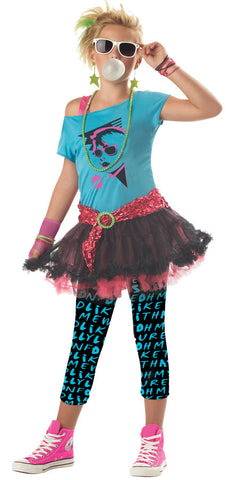 80S Valley Girl Child Med 8-10 Child Girls Costume - Bargains Delivered