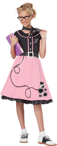 50S Sweetheart Child Med 8-10 Child Girls Costume - Bargains Delivered