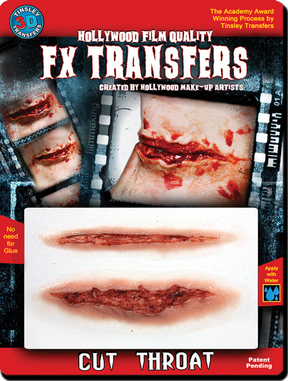 3D Fx Med Cut Throat  Costume Accessories - Bargains Delivered
