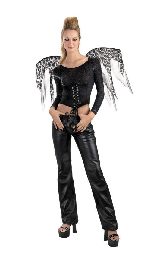 WINGS BLACK LACE CORSET