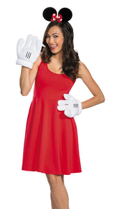 MINNIE MOUSE EARS GLOVES ADULT