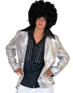 DISCO JACKET SILVER ADULT LARG