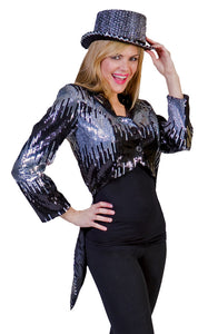 GLITTER TAILCOAT SILVER XLARGE