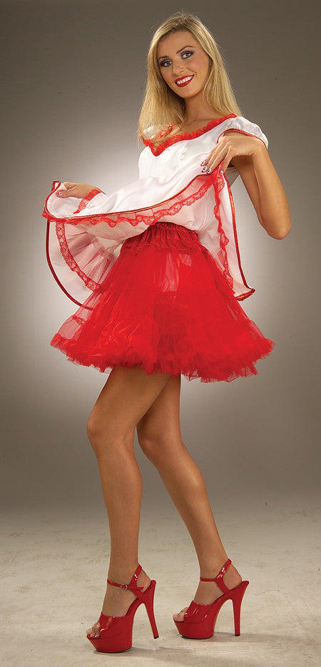 CRINOLINE RED ADULT 19 LENGTH
