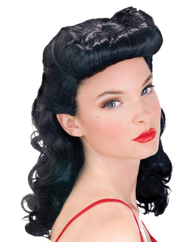 PIN UP BABE WIG BLACK