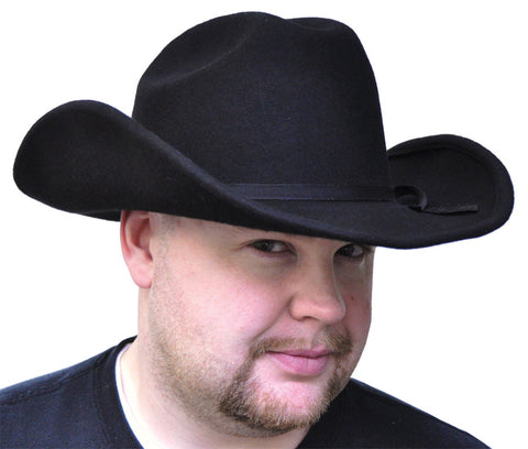 COWBOY HAT BLACK FELT LARGE