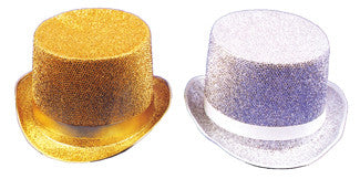 TOP HAT LAME SILVER