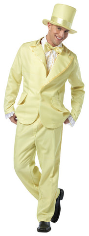 70S Funky Tuxedo Pastel Yellow  Costume - Bargains Delivered