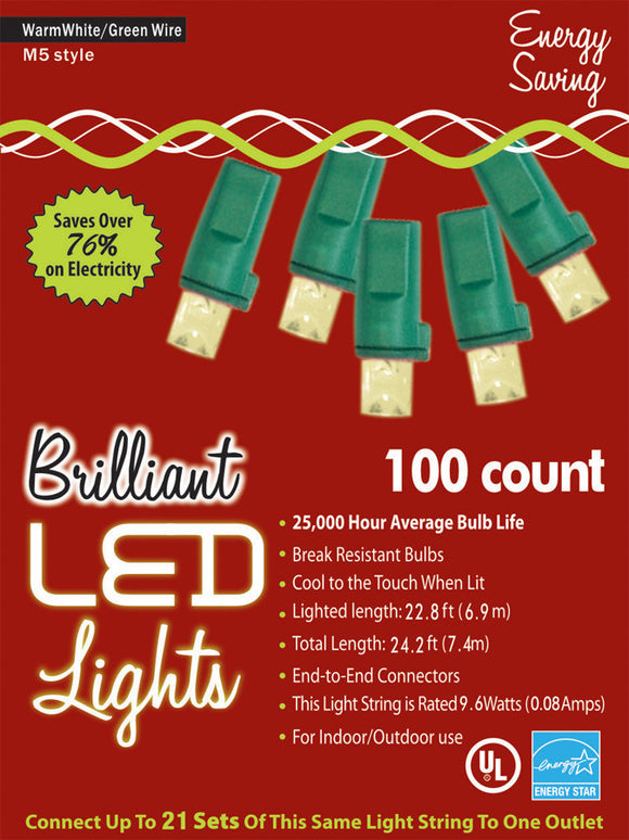 HOLIDAY LIGHTS 100L M5 WRM WT