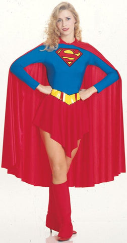 Supergirl Adult Women's Costume - Small Size 6-10