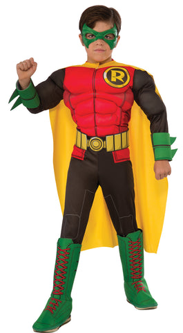 Robin Boy Wonder Muscle Child Boy's Costume - Small 4-6