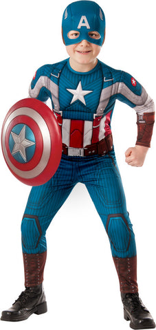 Avengers Captain America Classic Look Child Boy's Costume - Small 4-6