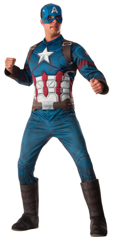 Captain America Muscle Adult Men's Costume - Extra Large 44-50