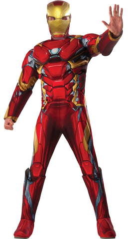 Captain America Civil War Iron Man Adult Men's Costume - Extra Large 44-50