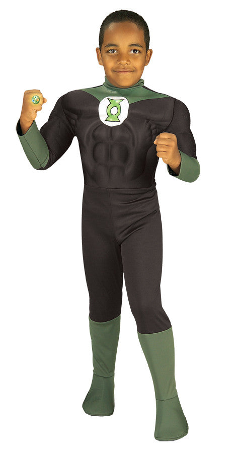 Green Lantern Muscle Chest Child Boy's Costume - Toddler 2T-4T