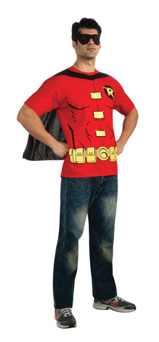 Robin Shirt and Eye Mask Adult Men's Costume - Extra Large 44-46