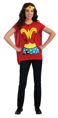 Wonder Woman Shirt and Headpiece Adult Women's Costume - Extra Large 14-16
