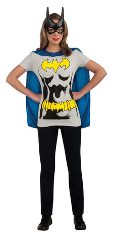Batgirl Sexy Shirt and Mask Adult Women's Costume - Extra Large 14-16