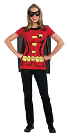 Robin Sexy Shirt and Eye Mask Adult Women's Costume - Extra Large 14-16