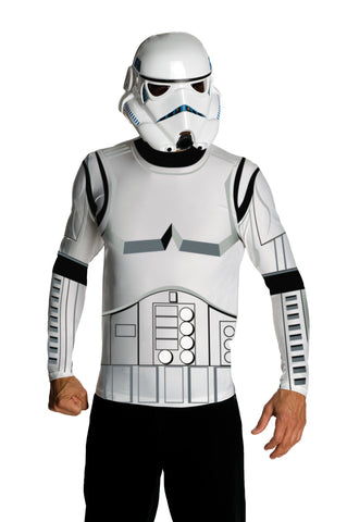 Star Wars Stormtrooper Shirt and Mask Adult Men's Costume - Medium 38-40